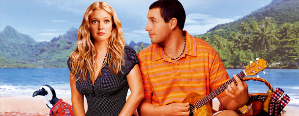 Drew Barrymore and Adam Sandler in Fifty First Dates